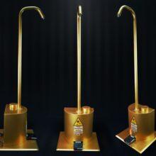 دستگاه ضدعفونی کننده پدالی پنج لیتری رنگ طلایی