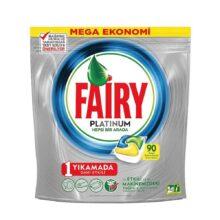 قرص ماشین ظرفشویی 90تایی فیری مدل Fairy Platinum