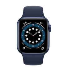 اپل واچ سری 6 نسخه 40 میلی متری آبی