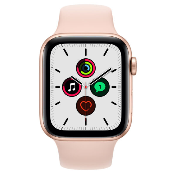 Apple Watch SE Gold Aluminum Case With Sport Band 44mm
