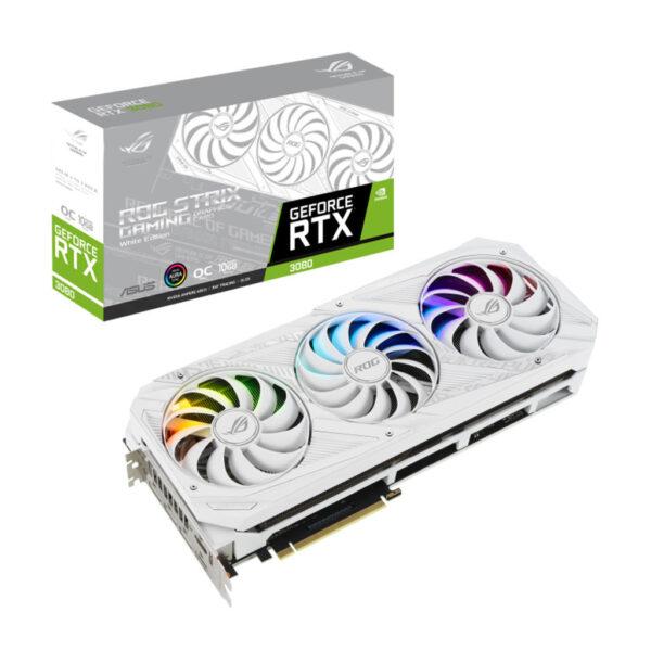 کارت گرافیک ایسوس مدل ROG STRIX RTX3080 O10G WHITE GAMING